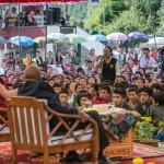 Su Santidad el Dalai Lama y el Arzobispo Desmond tTutu en la aldea de niños Tibetanos