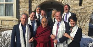 Su Santidad el Dalai Lama con los Alcaldes en Rochester, Minnesota